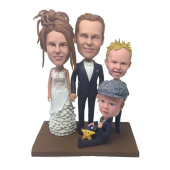 4 People Family Bobbleheads