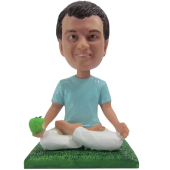 Apple Yoga Buddy Custom Bobblehead