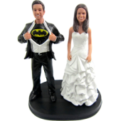Batman Wedding Cake Topper Bobbleheads