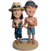 Beach Couple Custom Bobblehead