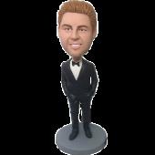 Black Suit Personalized Bobblehead
