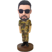 Camouflage Buddy Custom Bobble