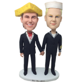 Cheesehead and Chef Wedding Bobbles