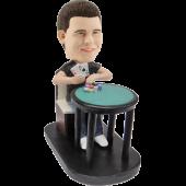 Custom Bobblehead Poker Player