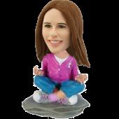Custom Bobblehead Yoga Girl