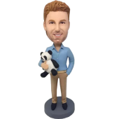 Custom Fashion Man with Panda Bobblehead