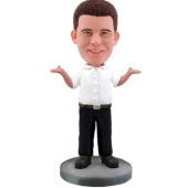 Custom Humorous Business Man Bobble Head