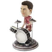 Custom Rock Drummer Bobblehead