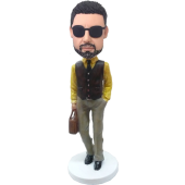 Customised Bobble Head Sylish Man