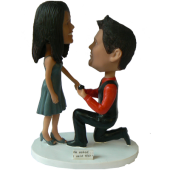 Customized Proposing Bobbleheads