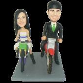 Dirtbike Couple Cake Topper