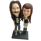 Fashion Couple Personalized Bobbleheads