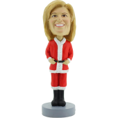 Female Christmas Custom Bobble