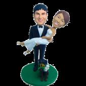 Groom Carring Bride Cake Topper