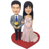 Groom Taking Follower Wedding Cake Topper