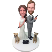 Heroes and Dogs Wedding Bobbles