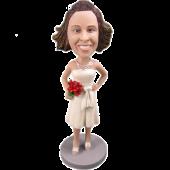 Ivory Dress Bridesmaid Bobble Head
