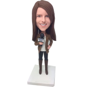 Journalist Custom Bobblehead