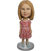 Lovely Girl Custom Bobble Head