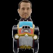 Man in Ancient Car Custom Bobblehead