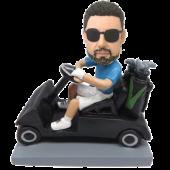 Man in Golf Car Custom Bobblehead
