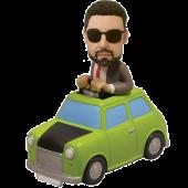 Man in Green Car Custom Bobblehead