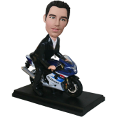 Man on Motorcycle Bobblehead