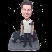 Man with Black Car