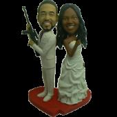 Mr & Mrs. Smith Cake Topper