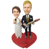 Musician Couple Custom Bobbleheads
