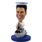 Custom Bobble Head Navy Officer