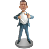 Personalized Bobblehead In Clark Kent Pose