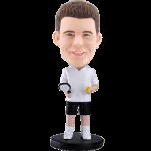 Personalized bobblehead White t-shirt tennis