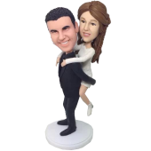 Piggy Back Ride Bobblehead Cake Topper