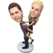 Piggyback Wedding Cake Topper