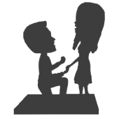 Fully Custom Proposing Bobbleheads