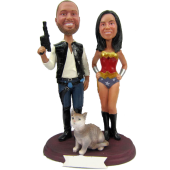 Star Wars and Wonder Woman Cake Topper