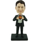 Superhero Groomsman Bobblehead