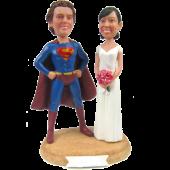 Superman Theme Wedding Cake Topper