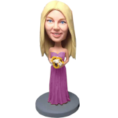 Violet Dress Bridesmaid Bobblehead