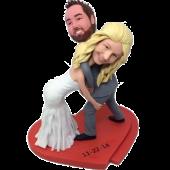 Wrestling Couple Wedding Cake Topper