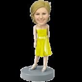 Yellow Dress Bridesmaid Bobblehead