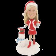 Christmas Girl Bobblehead