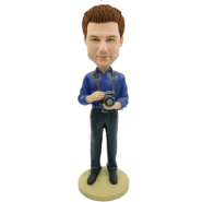 Custom Bobblehead Camera Man