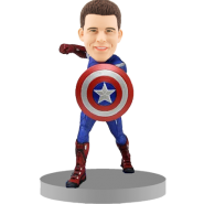 Personalised Captain America Bobblehead