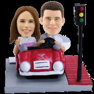 Custom Bobblehead Couple on Car