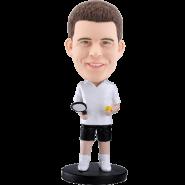 Customized bobblehead White t-shirt tennis