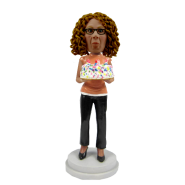 Young Woman Birthday Cake Topper Bobblehead