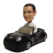 Man In Black Car Bobblehead