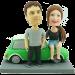 Couple on Mini Cooper